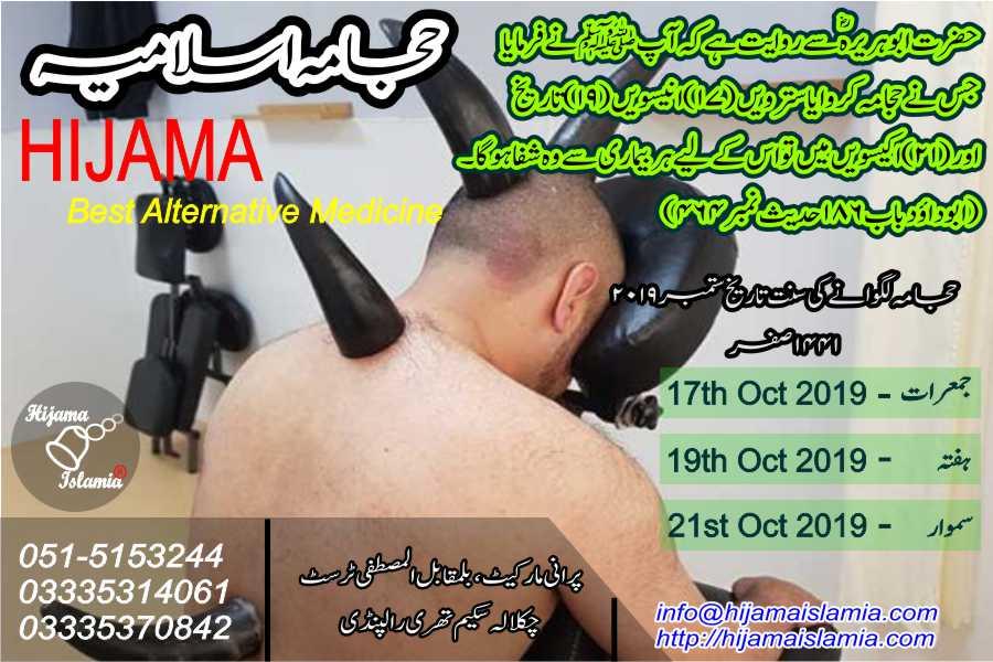 Sunnah Days for October 2019 1441 Safar